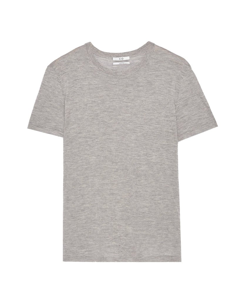 Co Collection Cashmere Tee in Heather Grey