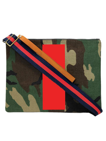 Parker Thatch Lee Bag in Camo with Red Stripe