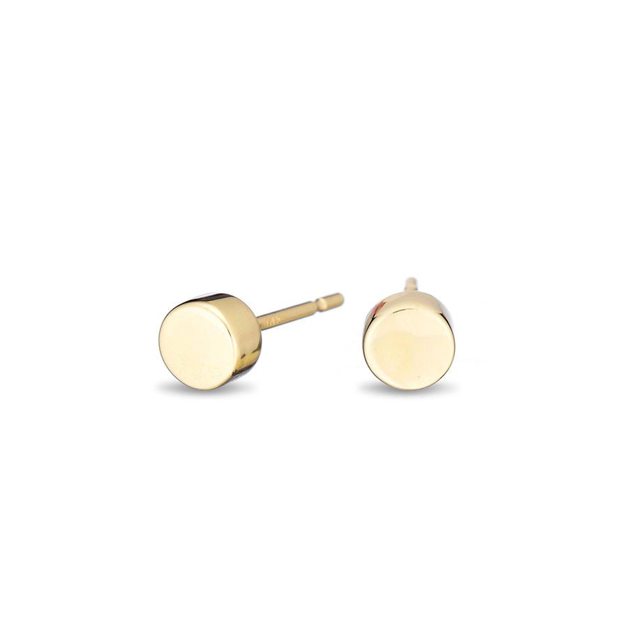 Adina Reyter 3D Disc Hoops in Yellow Gold