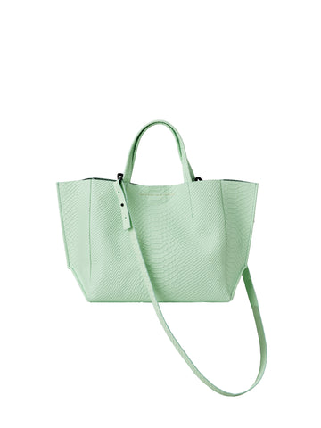 Ampersand As Apostrophe Half Tote in Green Snake