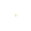 Zoe Chicco Lightning Bolt Stud in Yellow Gold