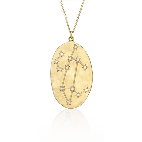 Brooke Gregson Leo Astrology Necklace in Yellow Gold