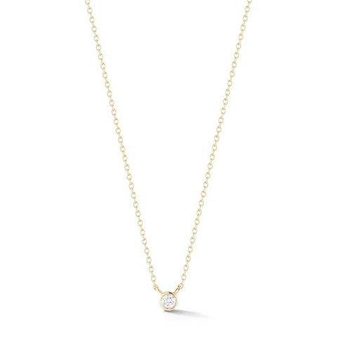 Dana Rebecca Lulu Jack Single Bezel Diamond Necklace in Yellow Gold
