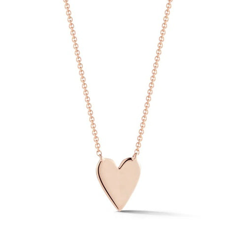 Dana Rebecca DRD Heart Necklace in Rose Gold