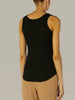 Enza Costa Baseball Tank in Black