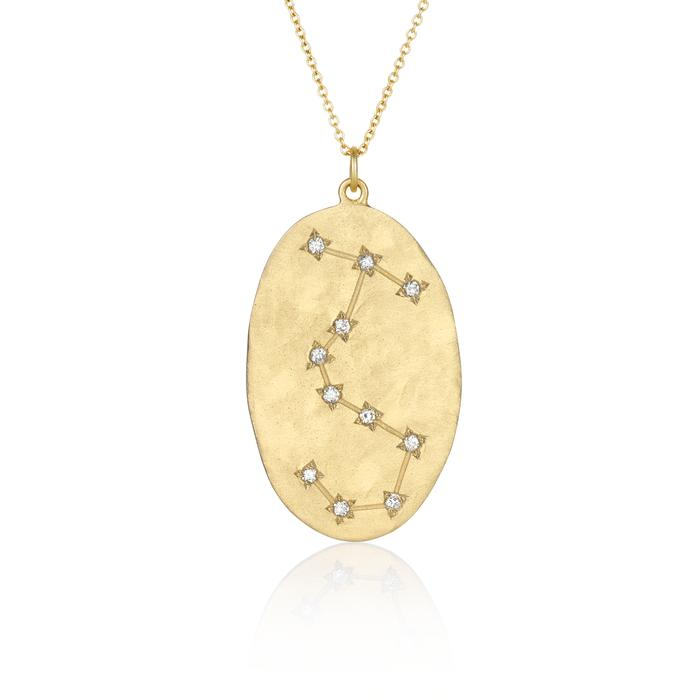 Brooke Gregson Scorpio Astrology Necklace in Yellow Gold