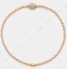 Karen Lazar 2MM Diamond Bean Bracelet in Rose Gold