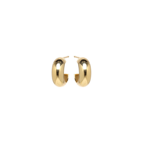 Zoe Chicco Thick Huggie Studs in Yellow Gold