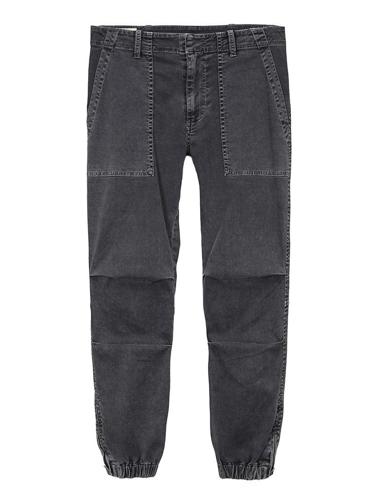 Nili Lotan Cropped French Military Pant in Carbon