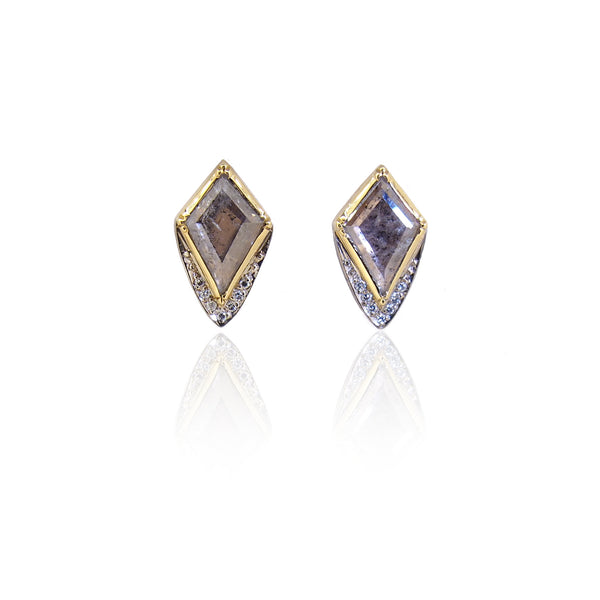 Brooke Gregson Barragan Kite Diamond Slice Pave Stud Earrings