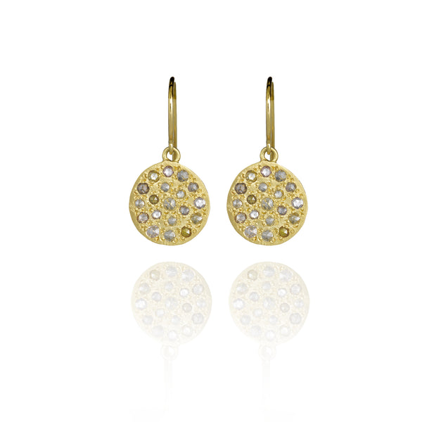 Brooke Gregson Mini Mars Earrings in Yellow Gold