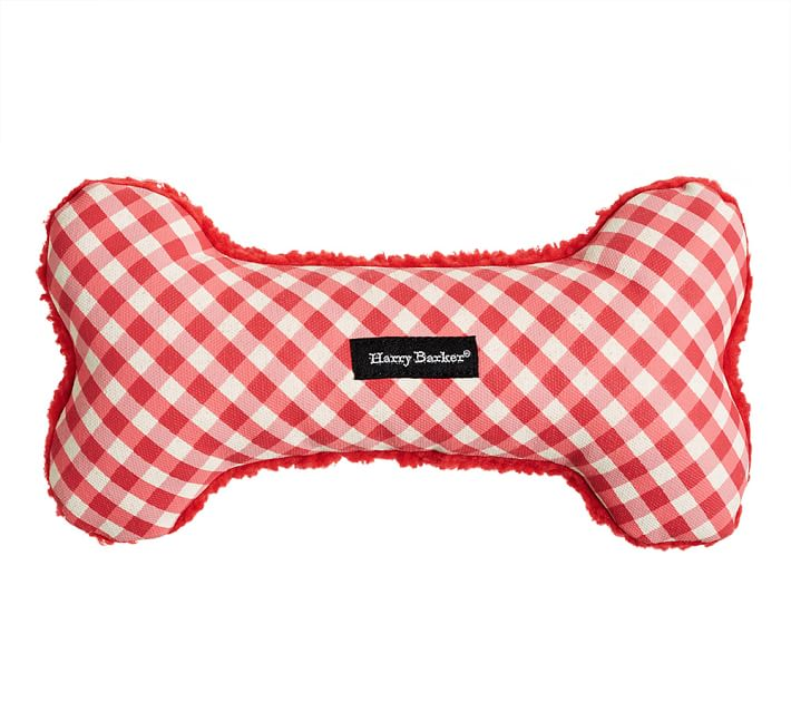 Harry Barker Gingham Bone Dog Toy