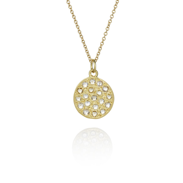 Brooke Gregson Mini Mars Necklace in Yellow Gold