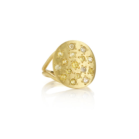 Brooke Gregson Orbital Diamond Ring in Yellow Gold