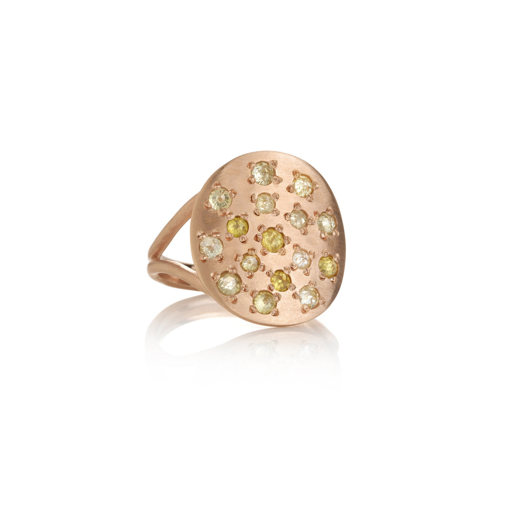 Brooke Gregson Orbital Diamond Rose Ring