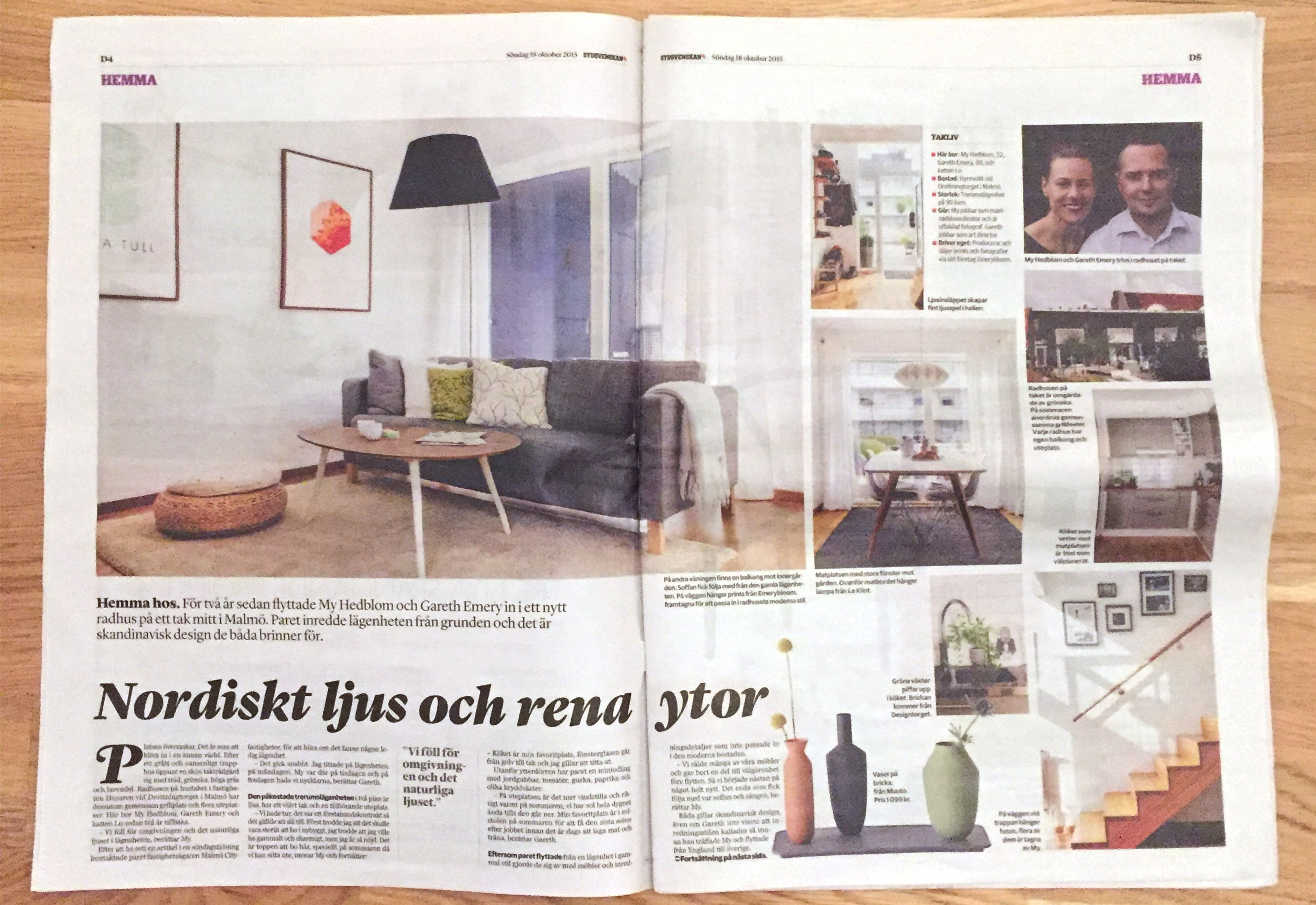 Emerybloom Has Been Featured In A 3 Paged Article In The Home U0026 Interiors  Section Of Southern Swedenu0027s Biggest Newspaper, Sydsvenskan.