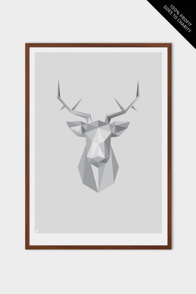 emerybloom stag art print