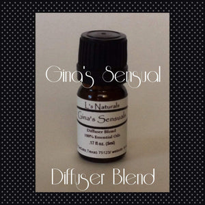 Gina's Experience Diffuser Blend (5ml,10ml) - L's Naturals | Bath & Body Boutique