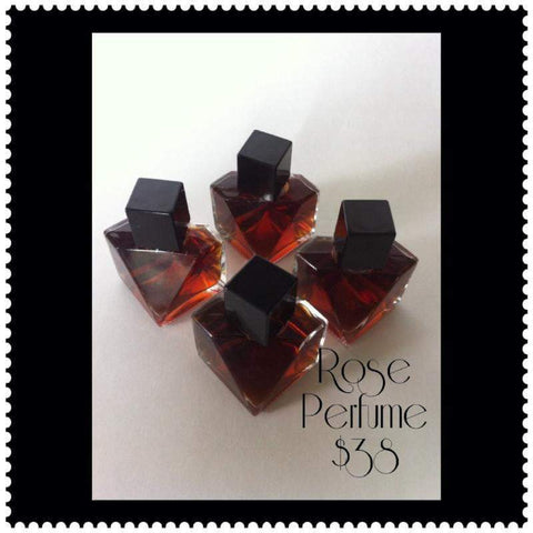 Rose Perfume .5 fl oz. - L's Naturals-  Bath, Body & Home Products