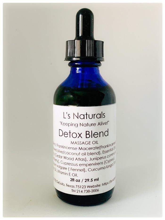 Detox Massage Oil - L's Naturals | Bath & Body Boutique