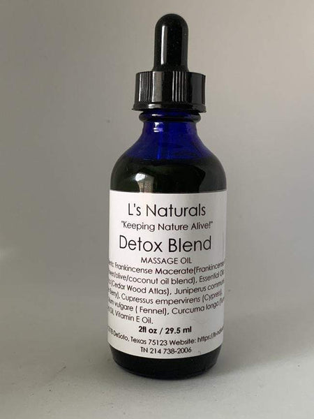 Detox Massage Oil - L's Naturals-  Bath, Body & Home Products