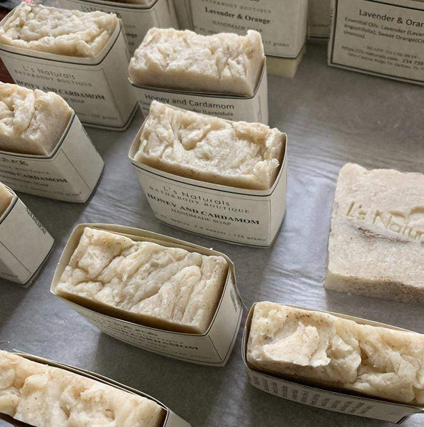 Honey and Cardamom Handmade Soap - L's Naturals | Bath & Body Boutique