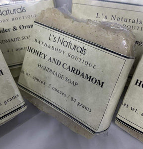 Honey and Cardamom Handmade Soap - L's Naturals-  Bath, Body & Home Products