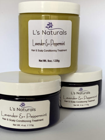 Lavender & Peppermint Hair & Scalp Treatment - L's Naturals | Bath & Body Boutique