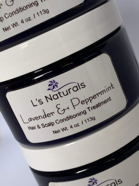 Lavender & Peppermint Hair & Scalp Treatment - L's Naturals-  Bath, Body & Home Products