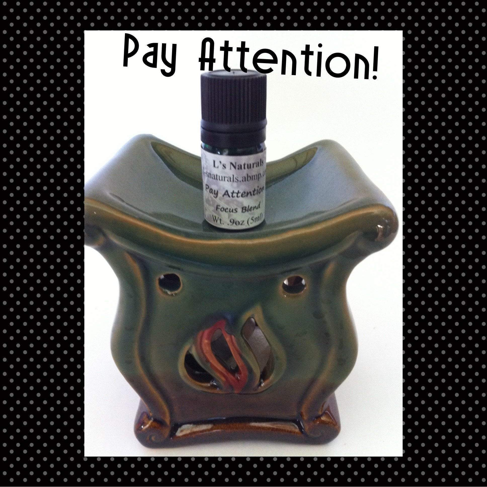 Pay Attention! (Aromatherapy Focus Blend) (5ml,10ml) - L's Naturals-  Bath, Body & Home Products