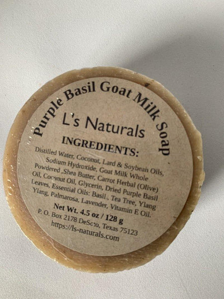 Purple Basil Handmade Goat Milk Soap - L's Naturals | Bath & Body Boutique