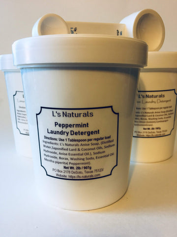 L's Naturals Peppermint Laundry Detergent - L's Naturals-  Bath, Body & Home Products