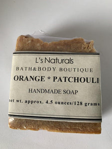 Orange and Patchouli Handmade Soap - L's Naturals | Bath & Body Boutique