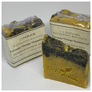 Lavender*Orange*Sandalwood Handmade Bar Soap - L's Naturals | Bath & Body Boutique