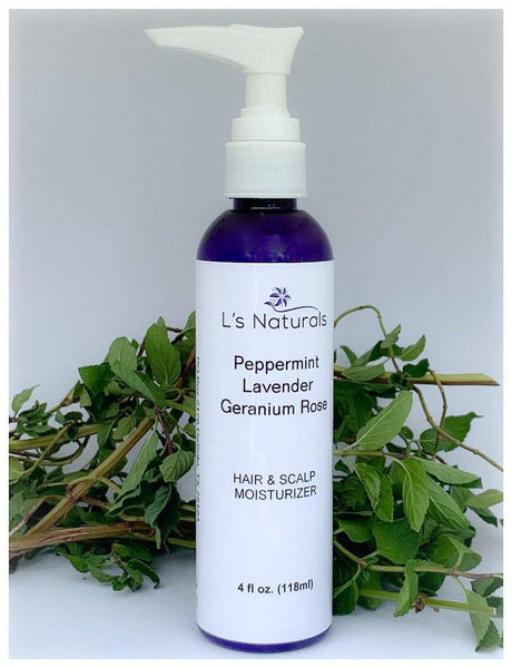Peppermint| Lavender|Geranium Hair & Scalp Moisturizer - L's Naturals-  Bath, Body & Home Products