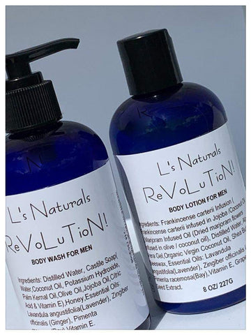 ReVoLuTioN! Body Wash and Lotion Set - L's Naturals | Bath & Body Boutique