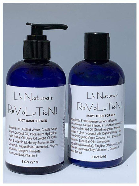 ReVoLuTioN! Body Wash and Lotion Set - L's Naturals-  Bath, Body & Home Products