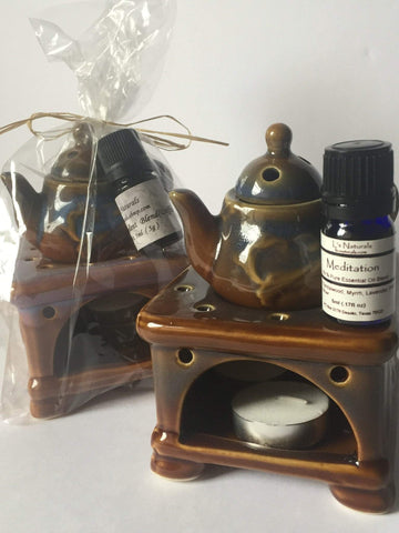 Ceramic Aromatherapy Diffuser Gift Sets - L's Naturals-  Bath, Body & Home Products