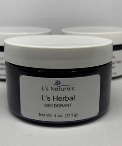 L's Herbal Deodorant (4oz) - L's Naturals | Bath & Body Boutique