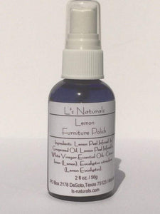 All Natural Lemon Furniture Polish - L's Naturals-  Bath, Body & Home Products