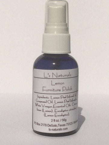 Lemon Furniture Polish - L's Naturals-  Bath, Body & Home Products