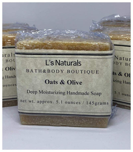 Oats and Olive Handmade Soap - L's Naturals | Bath & Body Boutique