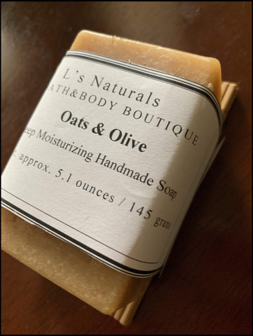 OATS AND OLIVE DEEP MOISTURIZING HANDMADE SOAP - L's Naturals-  Bath, Body & Home Products