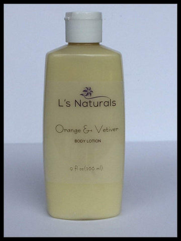 Orange and Vetiver Body Lotion - L's Naturals | Bath & Body Boutique