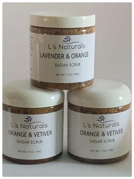 Orange and Vetiver Sugar Scrub - L's Naturals | Bath & Body Boutique