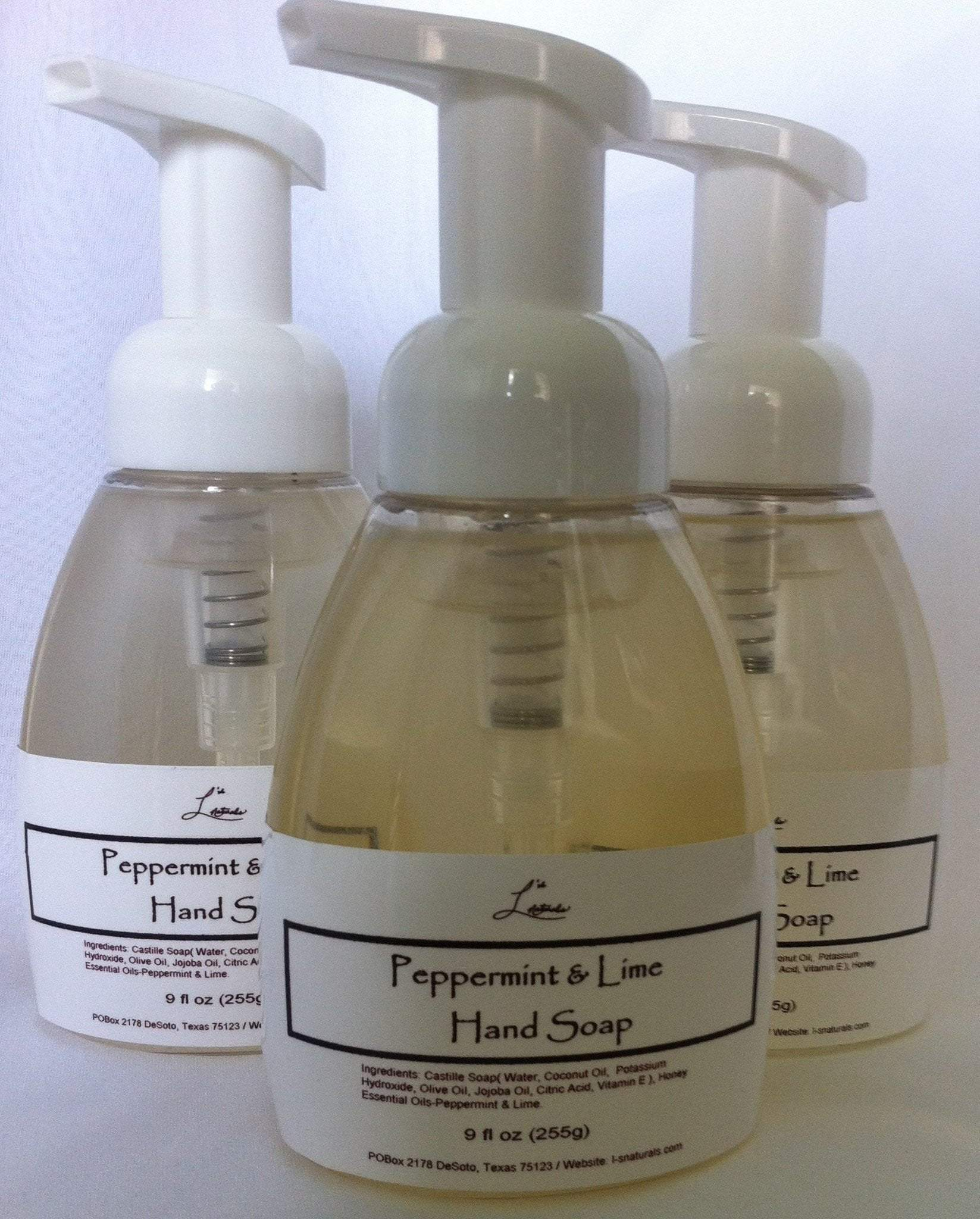 Peppermint & Lime Hand Soap (9oz.) - L's Naturals-  Bath, Body & Home Products