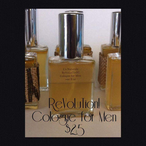 ReVoLuTion! Cologne for Men (1oz.) - L's Naturals-  Bath, Body & Home Products