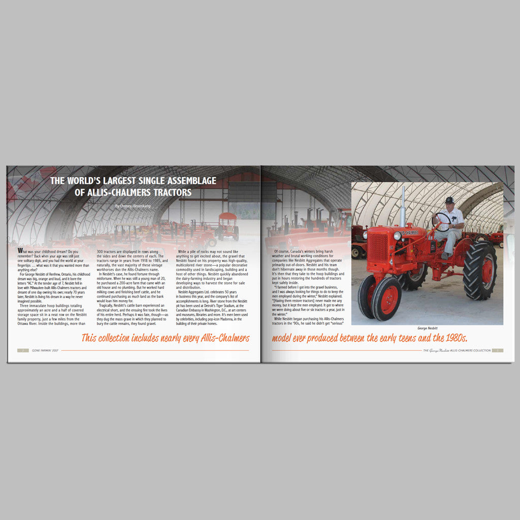THE GEORGE NESBITT ALLIS-CHALMERS COLLECTION (Domestic Orders ...