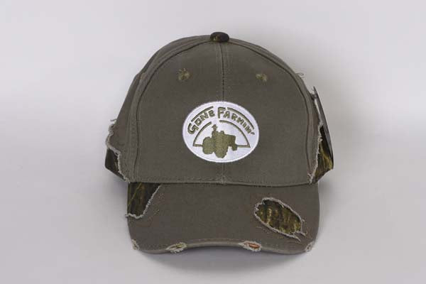 Gone Farmin' Camouflage Distressed Hat