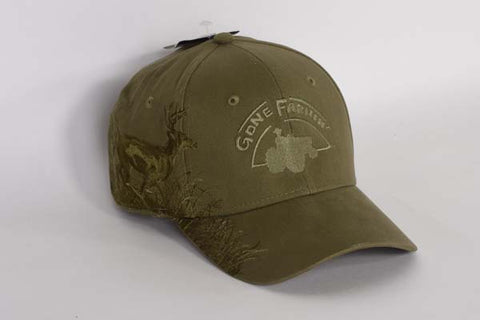 Gone Farmin' Running Buck Olive Green Hat